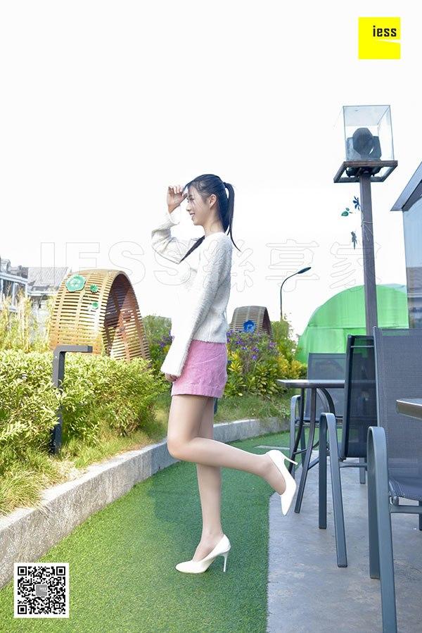 [IESS异思趣向] 2018.02.17 丝享家170:《清新粉色短裙肉丝》佳桢 [99P-49.2M]